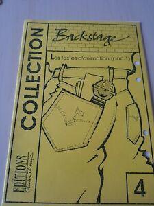 "Livres "" backstage ""l'animation micro, les"