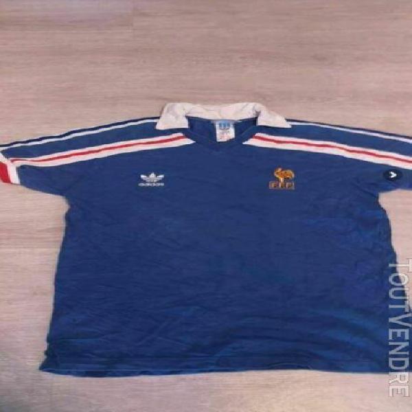 Maillot vintage collector adidas fff equipe de france 1986 m