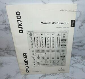 Manuel d'utilisation pro mixer djx700table de