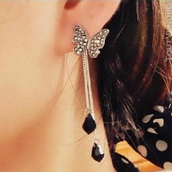 Boucles oreilles papillon