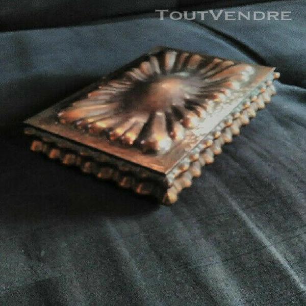 Idée cadeau:coffret boite à bijoux 20 ème,en cuivre