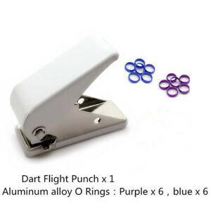 Professional dart flight punch dart wing hole with 12pcs o