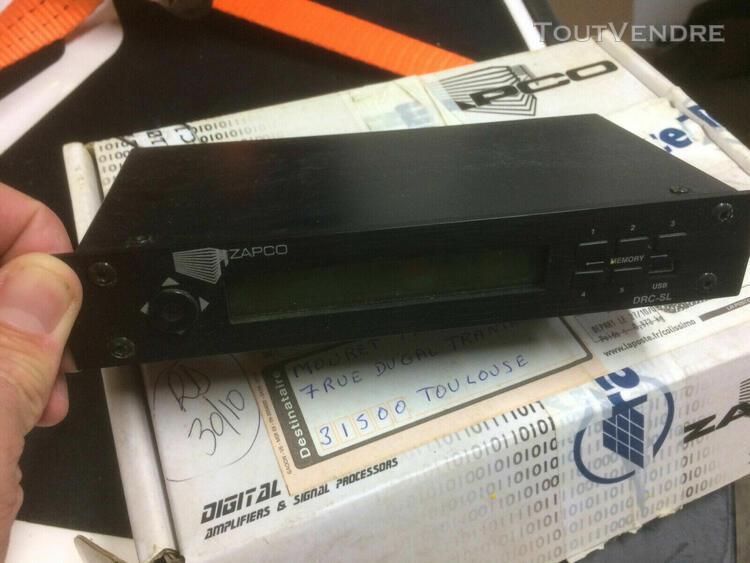 amplificateur zapco dc650.6 & commande drc sl