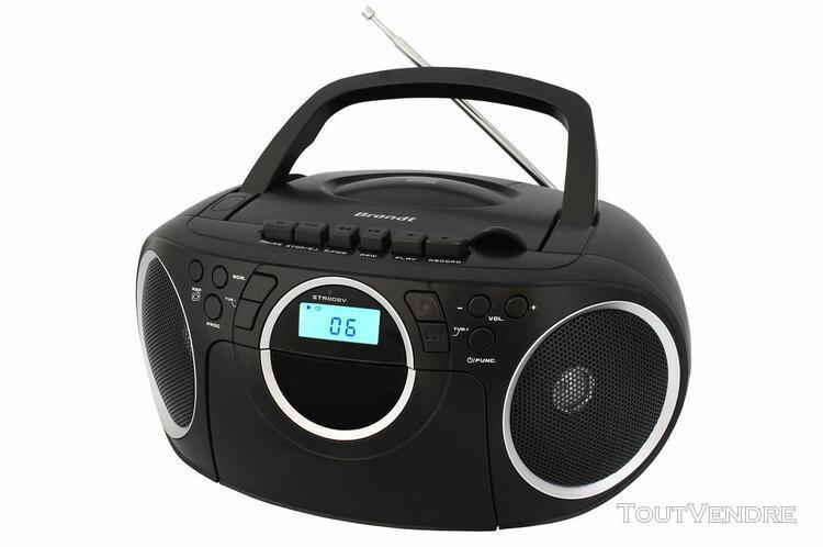 brandt bcd350k7 radio/radio-réveil lecteur cd mp3 - noir