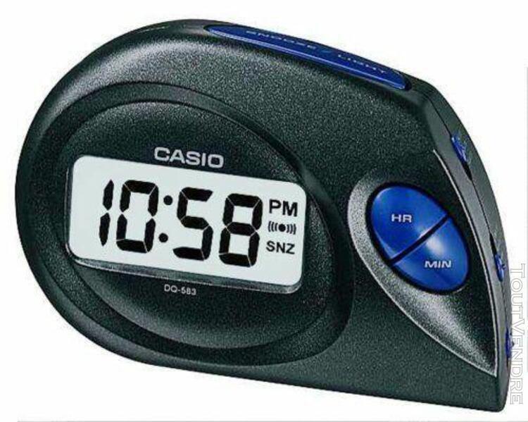 casio - dq-583-1ef - réveil - quartz digitale - alarme