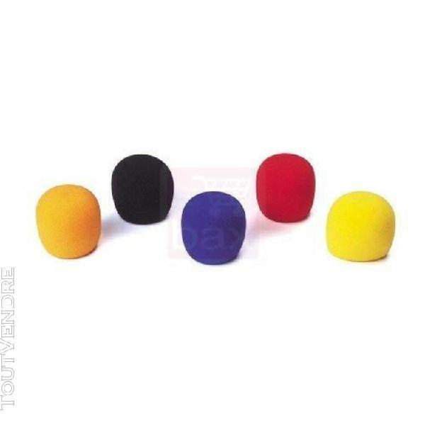 jb systems bonnettes de couleur pour micros (5 pièces)