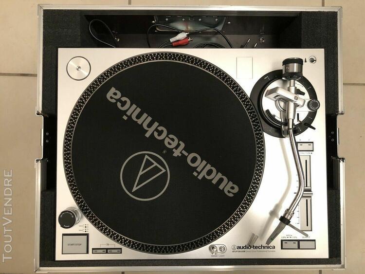 neuf, platine vinyle dj audio technica at-lp120-usbhc + orto