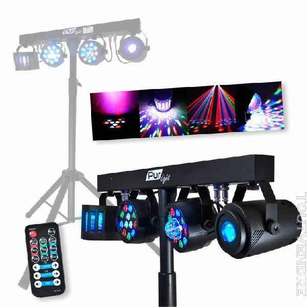 portique + 4 effets lumière par/astro/beam/derby +