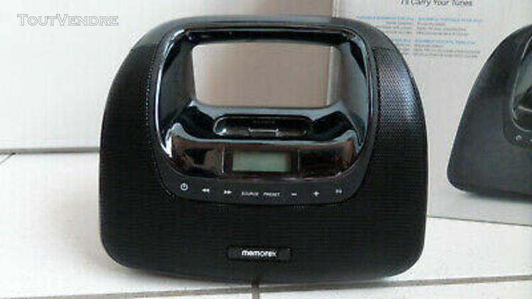 Station accueil minimove memorex mp3 ipod/iphone 3 boombox m