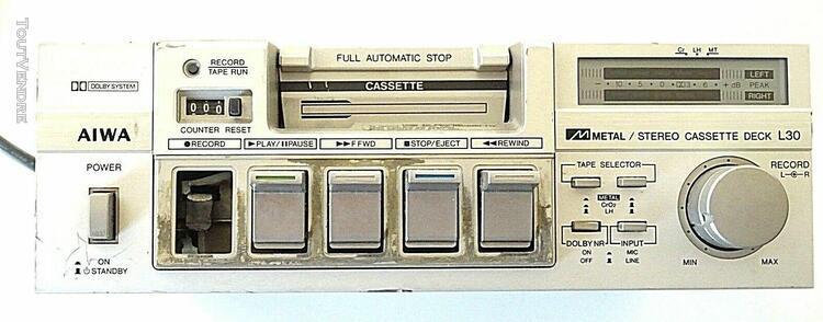 stereo cassette deck l30 aiwa