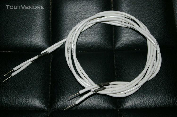 une paire de câble hp black rhodium twist 2 x 1,35 mètre
