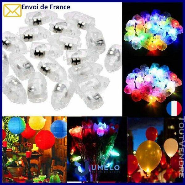 10x led décorations ballons / anniversaire / noel /
