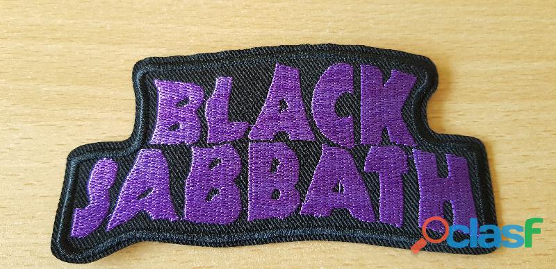 Écusson brodé black sabbath 12x5,5 cm thermocollant, pas besoin de couture hard rock metal groupe