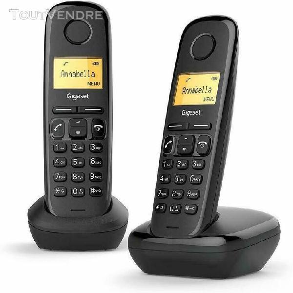 Gigaset a170 duo téléphone fixe sans fil dect/gap noir