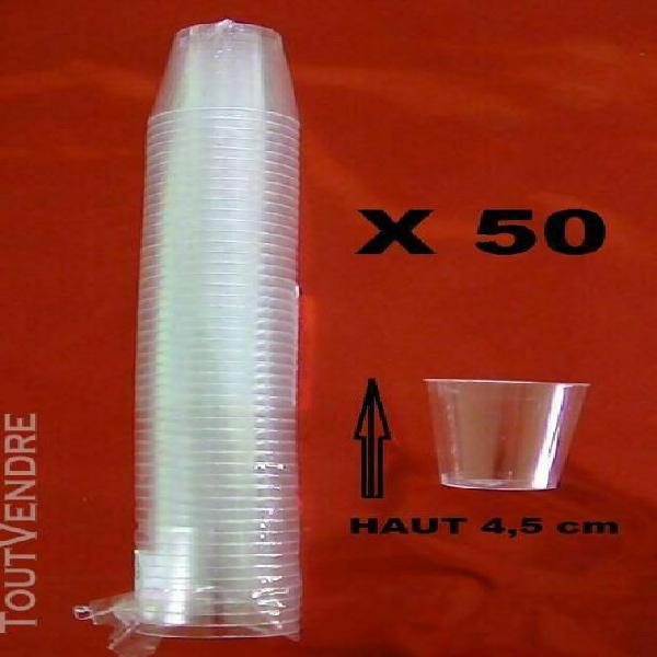 lot 10 x 50 verres = 500 a degustation 3 cl en plastique tra
