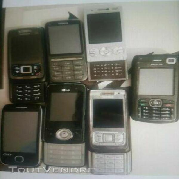 Lot 20 téléphones portables (pour pièces ou a réparer)