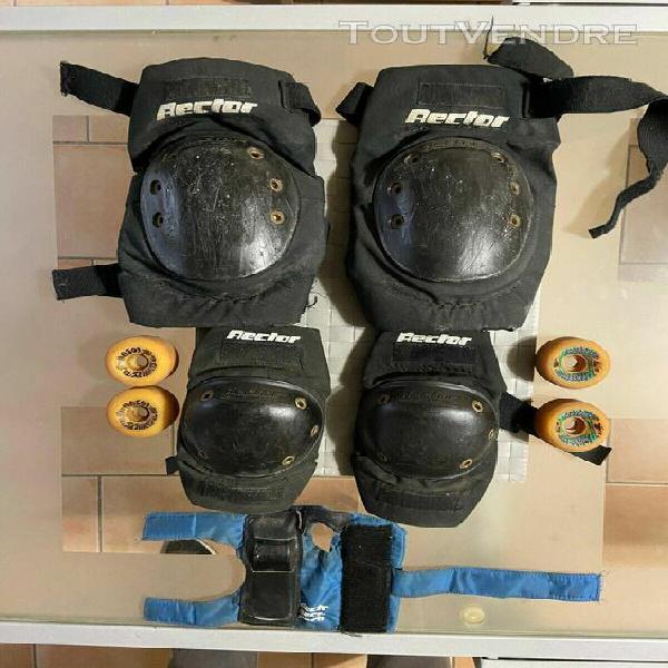 Protections skate rector + 4 roues neuves hosoi collector de