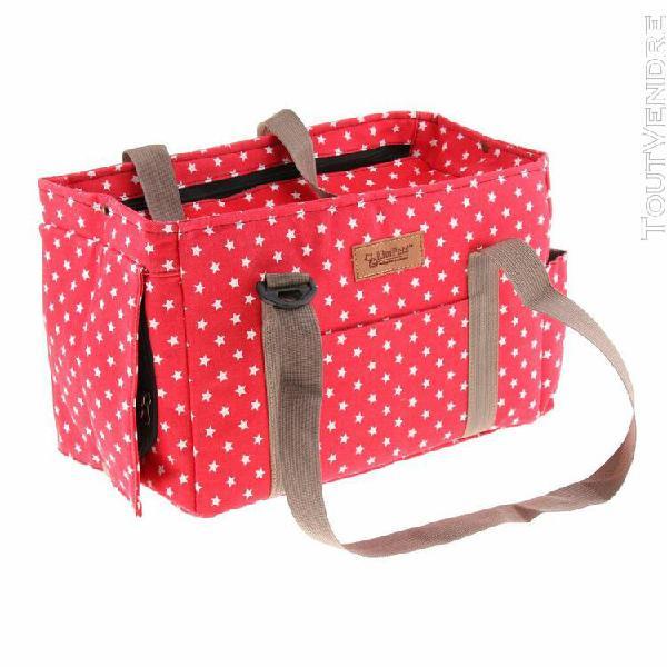 Sac transport de petits animaux pliable en toile bagage de v