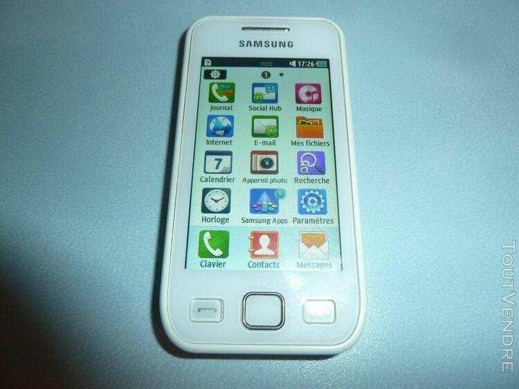 Samsung wave 575 gt-s5750e blanc