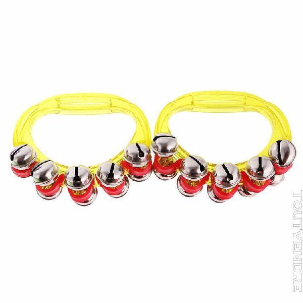 1 paire hochet anneau hochet eveil bébé avec 10 clochettes