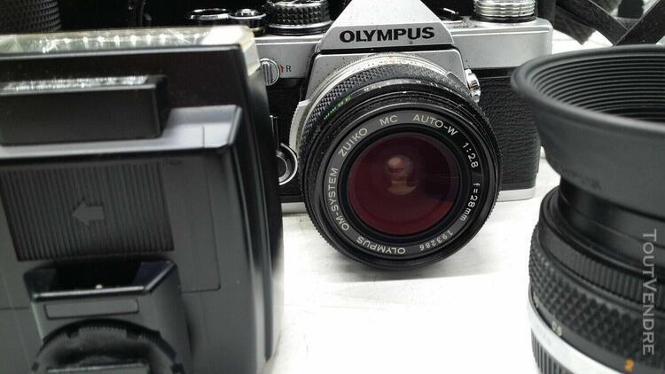 Appareil photo olympus qm-2n objectif zuiko mc 1:2.8 f=28mm