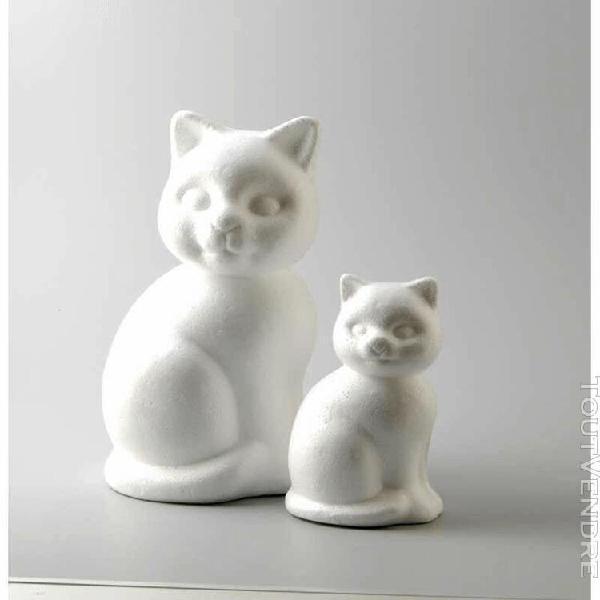 chats en polystyrene - 24 cm