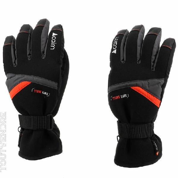 gants de ski cairn styl 2 m c-tex gra/sca noir 28399
