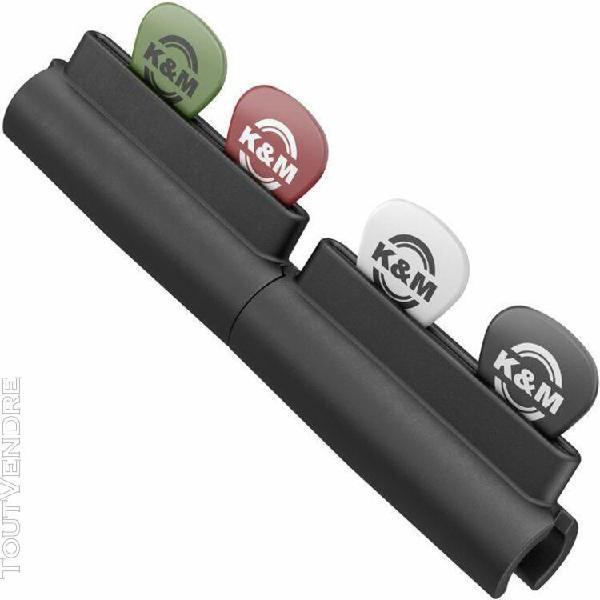 K&m 14510 pick holder porte-médiators pour pied de micro