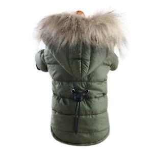 Manteau pour chien pour animaux d'hiver vêtements chauds