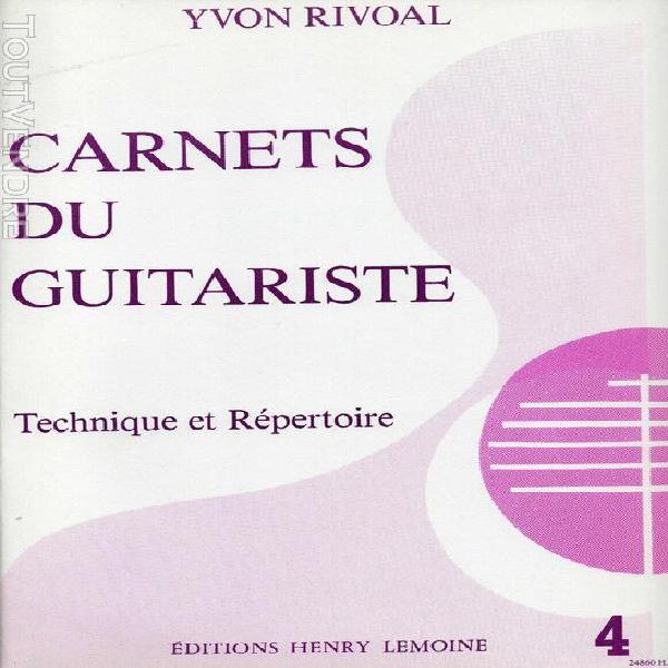 "Methode guitare ""carnets du guitariste vol 4"" y. rivoal"