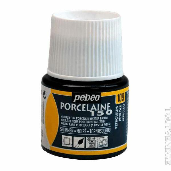 peinture porcelaine petrole moire 45ml