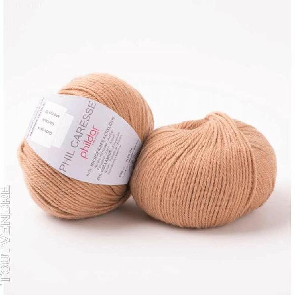 pelote de laine caresse camel 50 g