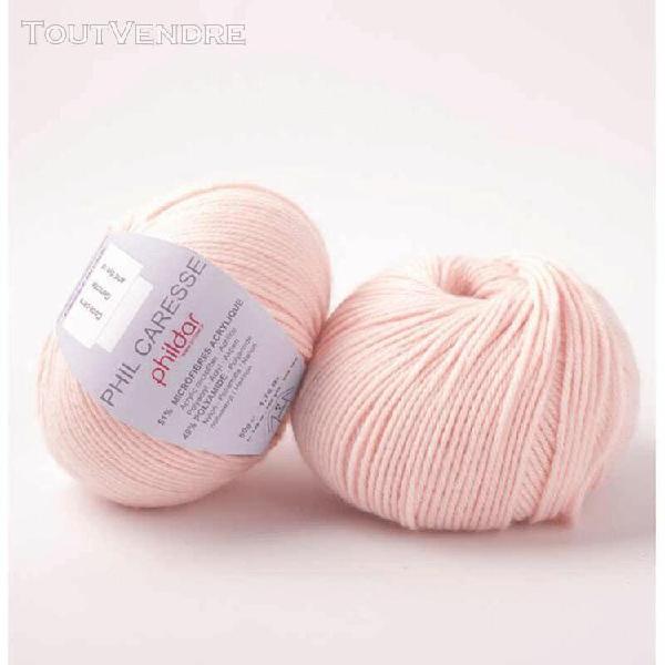 pelote de laine caresse rosee 50 g