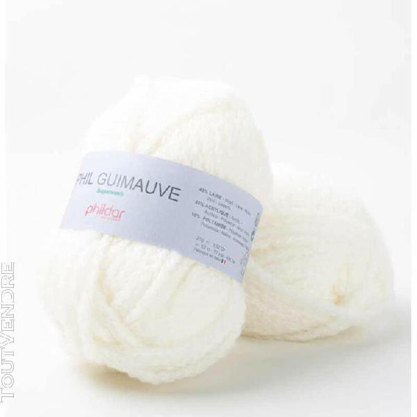 pelote de laine guimauve ecru 25 g