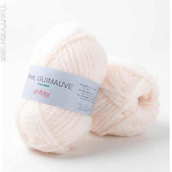 pelote de laine guimauve poudre 25 g