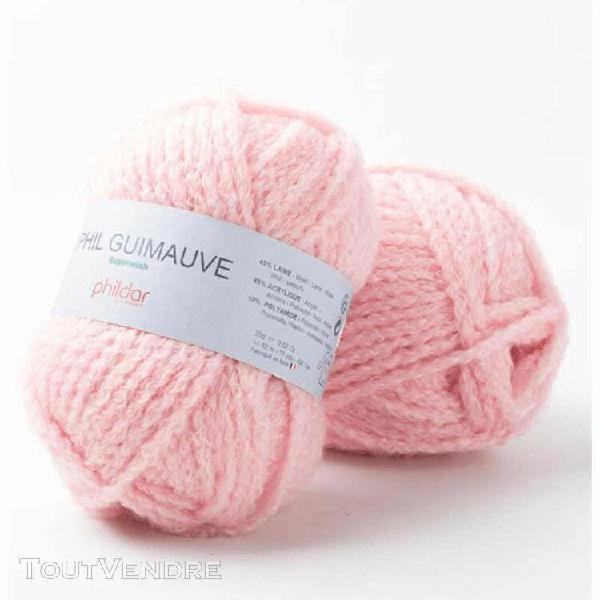 pelote de laine guimauve rose 25 g