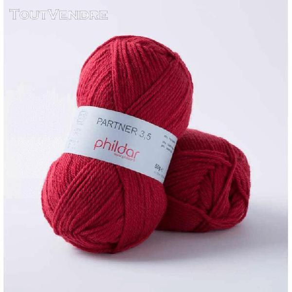 pelote de laine partner 3,5 pavot 50 g