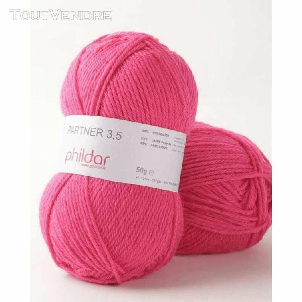 pelote de laine partner 3,5 pink 50 g