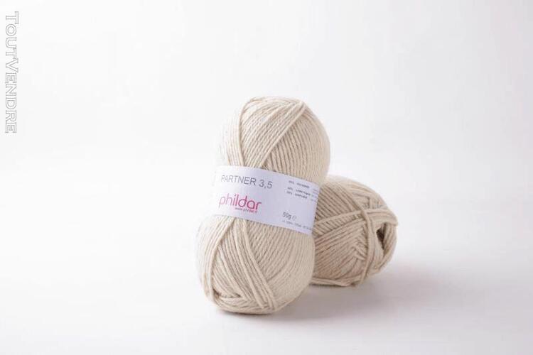 pelote de laine partner 3,5 sable 50 g