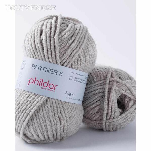 pelote de laine partner 6 brume 50 g