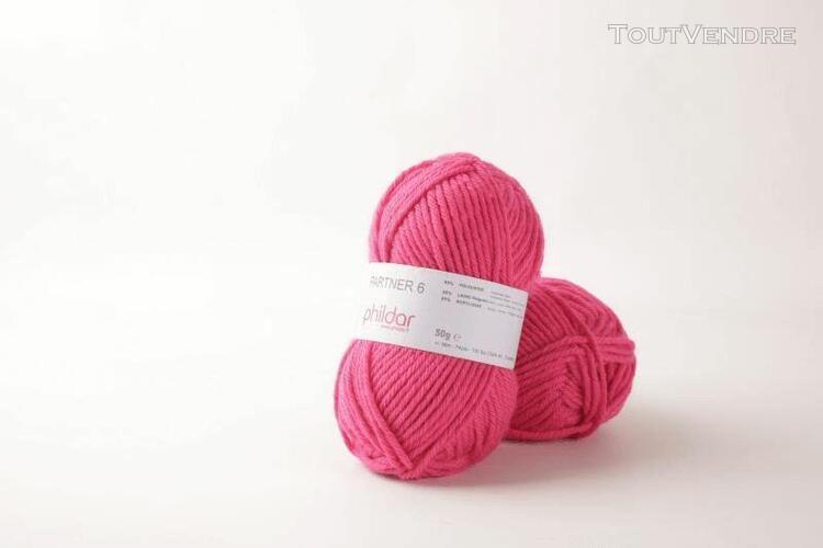 pelote de laine partner 6 pink 50 g