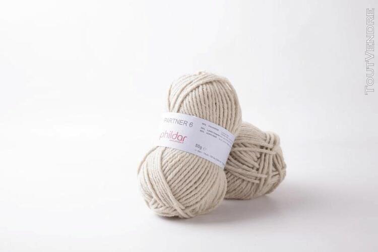 pelote de laine partner 6 sable 50 g
