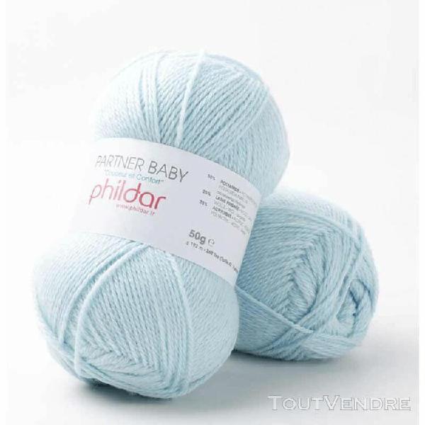 pelote de laine partner baby glacon 50 g