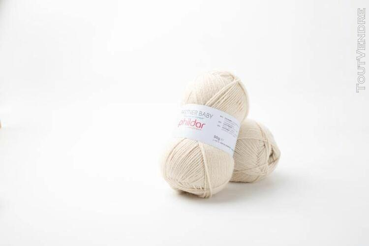 pelote de laine partner baby grege 50 g