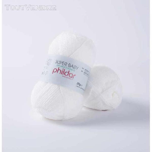 pelote de laine superbaby cygne 25 g