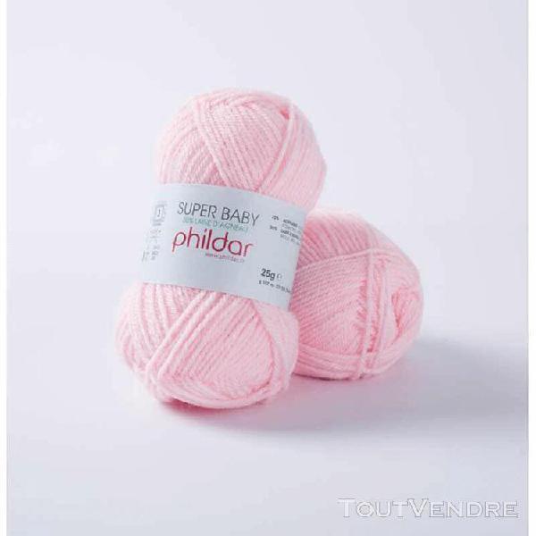 pelote de laine superbaby rose 25 g
