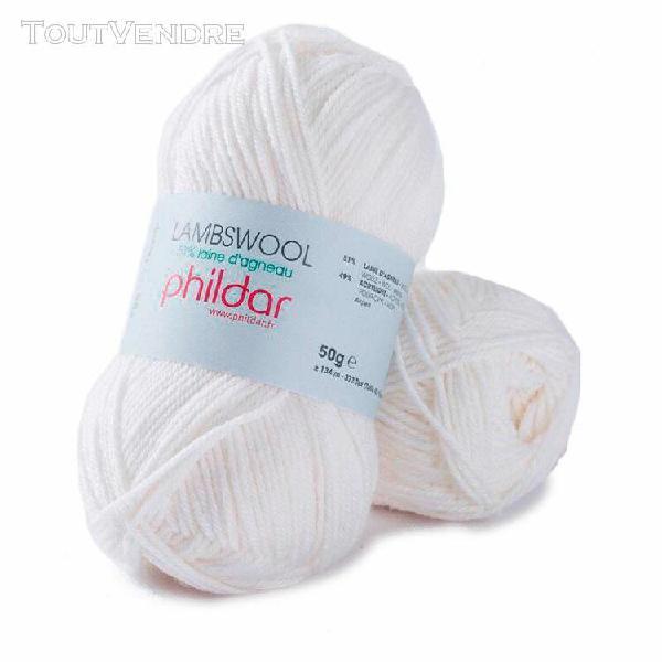 pelote lambswool blanc 50g