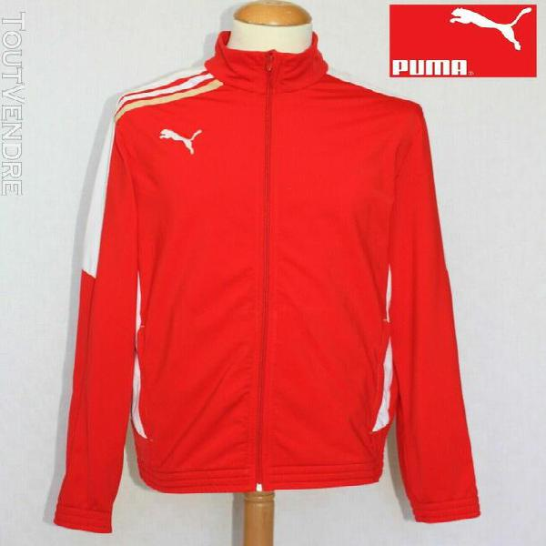 Puma - veste zip track top rouge or blanc t. l rétro
