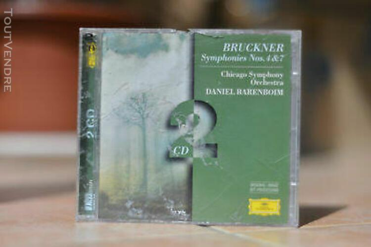 bruckner symphonies nos. 4 & 7 / 2 x cd chicago symphony bar