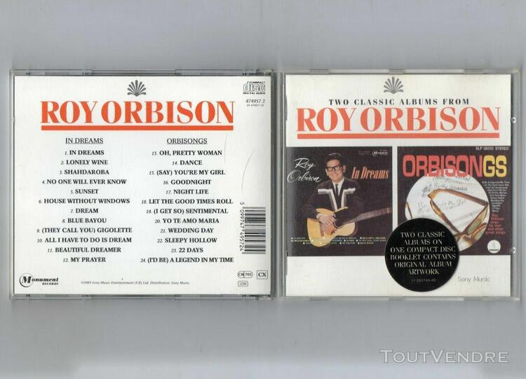 cd two classic albums from roy orbison